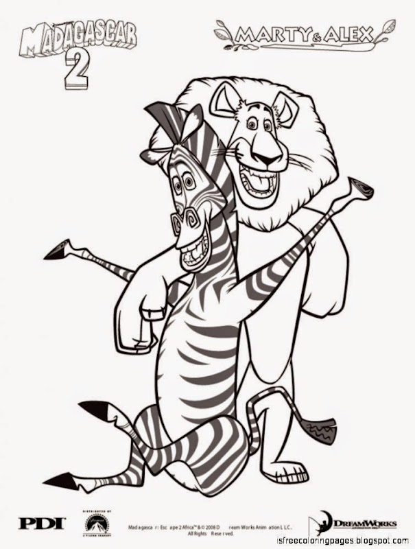 Madagascar Coloring Pages Free Coloring Pages