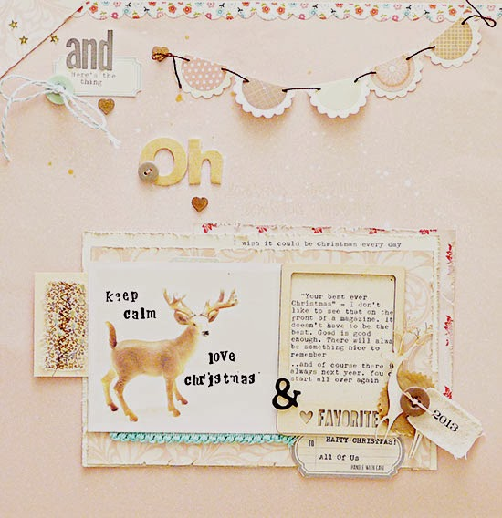 Scrapbooking Christmas with pastels for Get It Scrapped