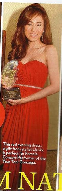 Toni Gonzaga 2012 Guillermo Mendoza Awards