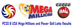 PCSO-USA Mega Millions &amp; Power Ball Lotto Results