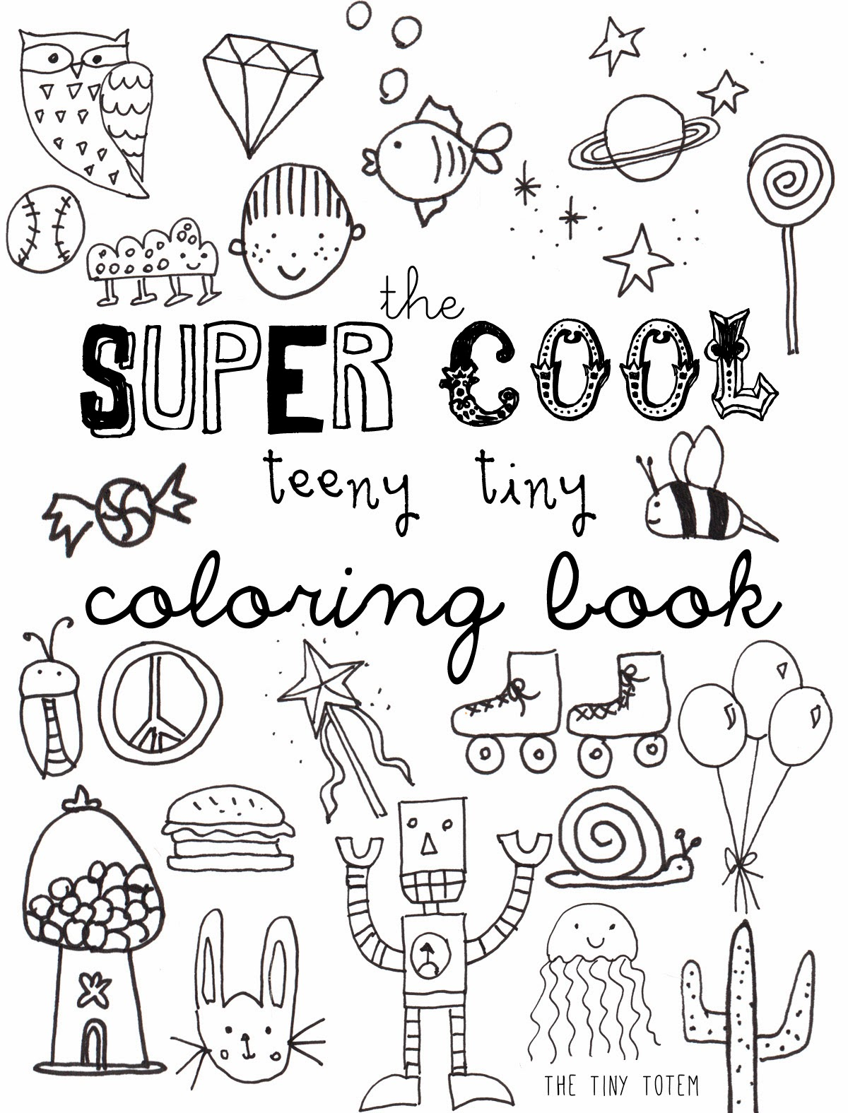Printable Mini Coloring Book | The Tiny Totem blog