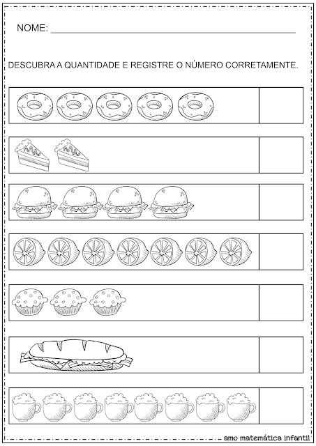 Contando e Registrando Alimentos Atividades
