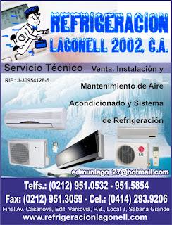 REFRIGERACI�N LAGONELL 2002, C.A. en Paginas Amarillas tu guia Comercial