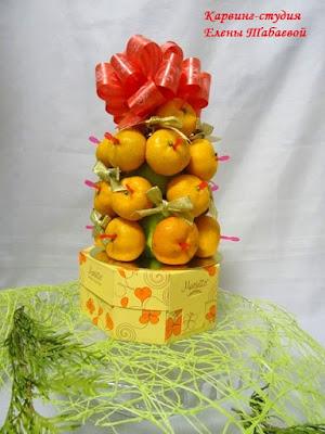 фруктовый букет шоколад