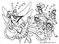 Gambar Mewarnai Sailor Moon