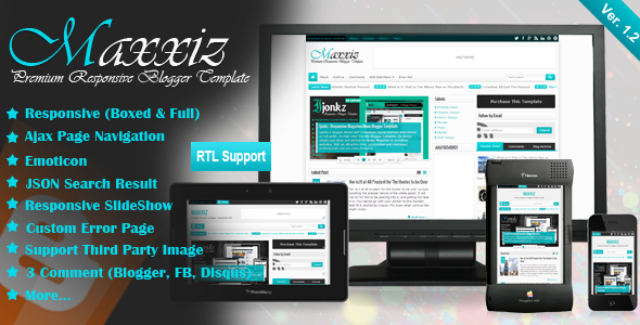 01 Maxxizpreview Apriezt   Responsive Magazine/News Blogger Theme (Blogger)
