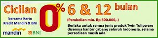 cicilan 0% 6 - 12 bulan - smart spending bni - mandiri power buy