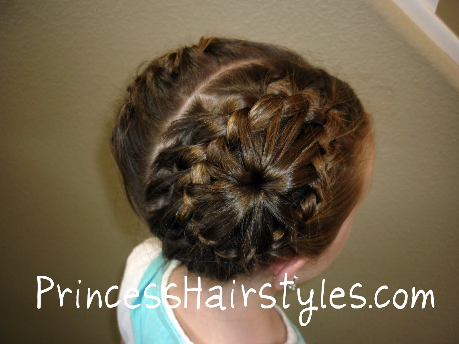 Circular French Braids In Pigtails