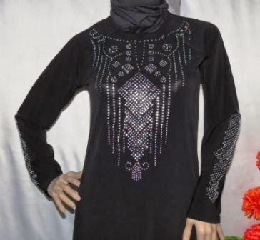 Gamis Arab Manik Warna Hitam Gkm4583 Grosir Baju Muslim