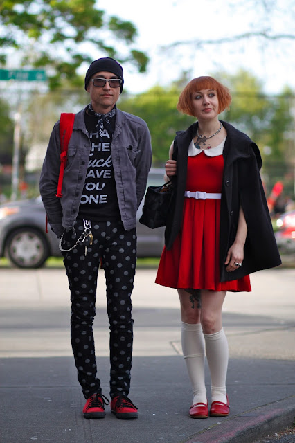 Patrick Gundran Faith Gundran Abductee Band Seattle street style fashion it's my darlin'