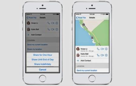 Inilah fitur baru dari iOS 8, foto dan video - maps