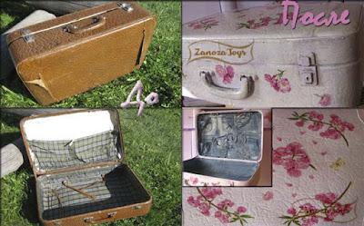 Реставрация и декупаж старого чемодана своими руками