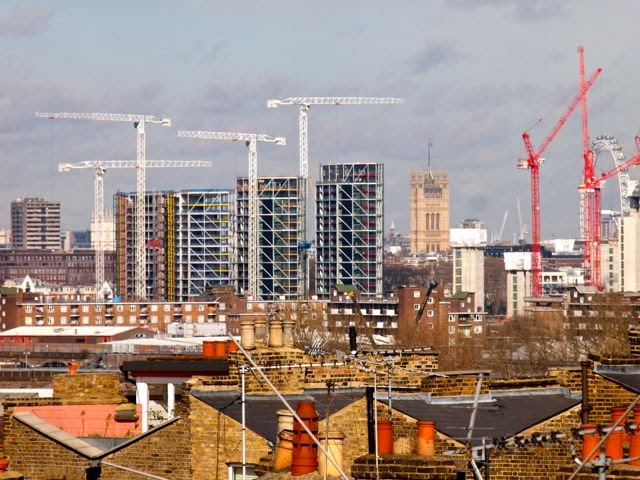 Rising fast - the new residential towers along the Thames between Vauxhall and Battersea Power STation