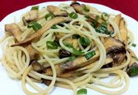 Espaguete com Cogumelos Eryngi (vegana)