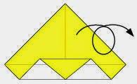 Bước 5: Lật mặt đằng sau tờ giấy ra đằng trước.