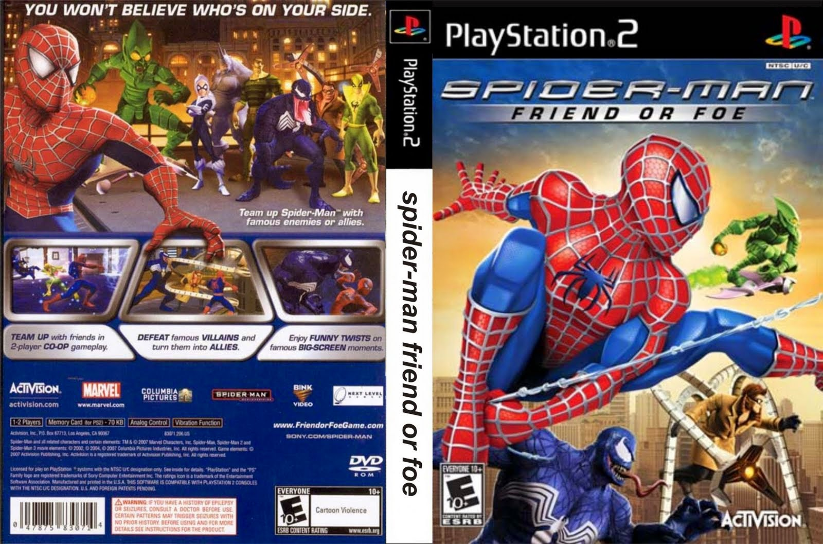 SPIDER-MAN: FRIEND OR FOE PS2