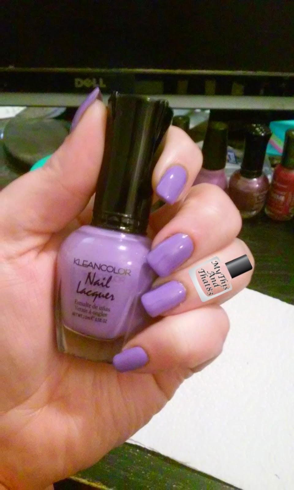 Kleancolor pastel purple nail polish