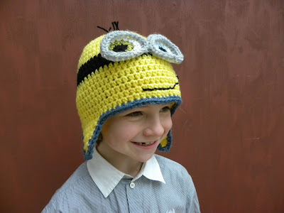 gehaakte Minions muts by julienne-jeannot.blogspot.be