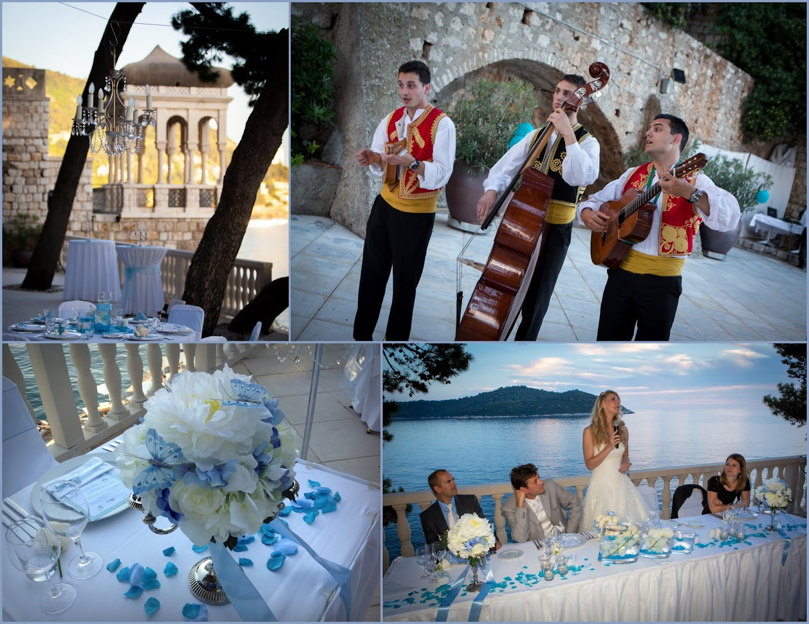 A magical setting for an outdoors dubrovnik wedding