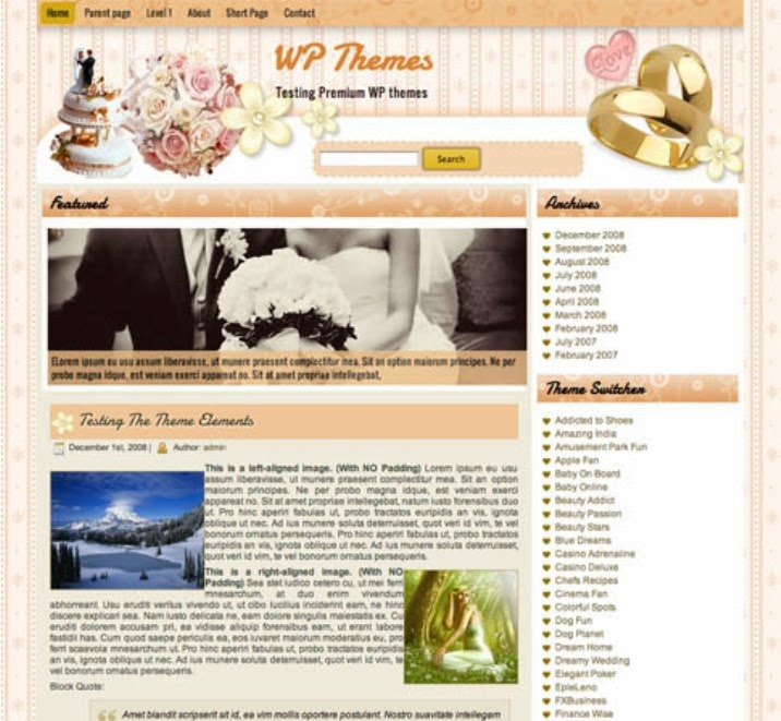 The Wedding Rings Free WordPress Theme