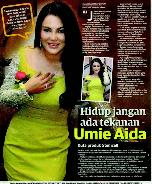 Umie Aida , Duta Product Phyto Double Stemcell , Double Stemcell