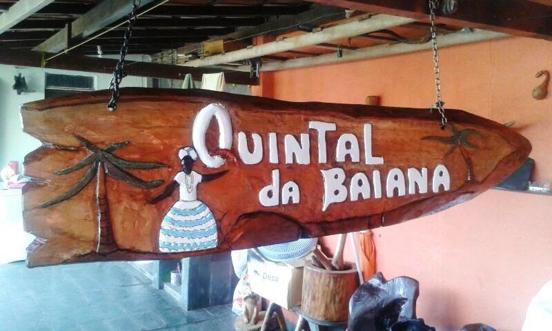 Placa Quintal da Baiana