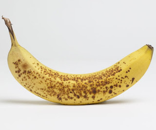 Ripe Banana with Black Spots