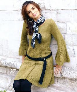 http://www.vyazemsami.ru// Платье фисташкового цвета