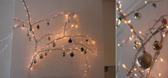 Wunderkammer decorar en navidad con una rama - Como se adorna un arbol de navidad ...