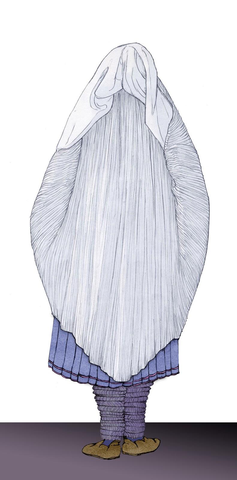 Morisca, sarracena, dibujo