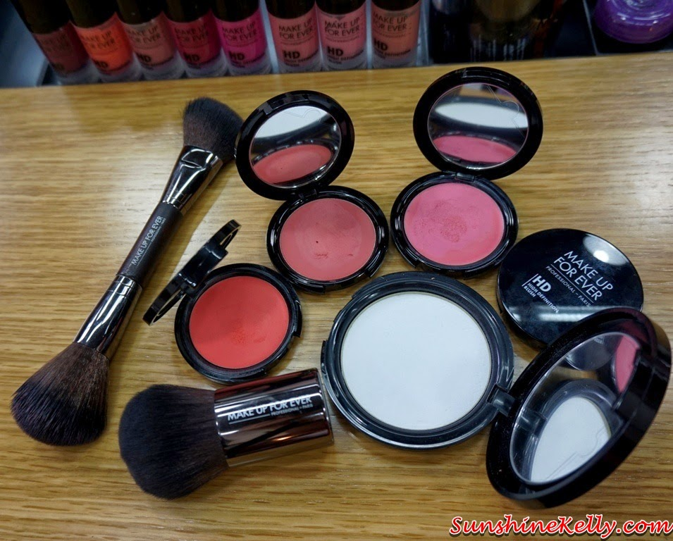 Make Up For Ever High Definition Pressed Powder, Make Up For Ever High Definition Cream Blush, make up for ever