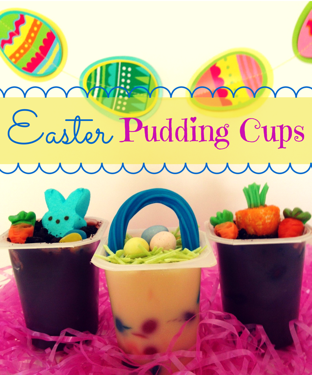 Snack Pack Mixin Easter Pudding Cups