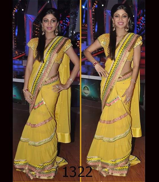 Shilpa-Shetty-in-Surily-Goel-saree in nach baliye 6