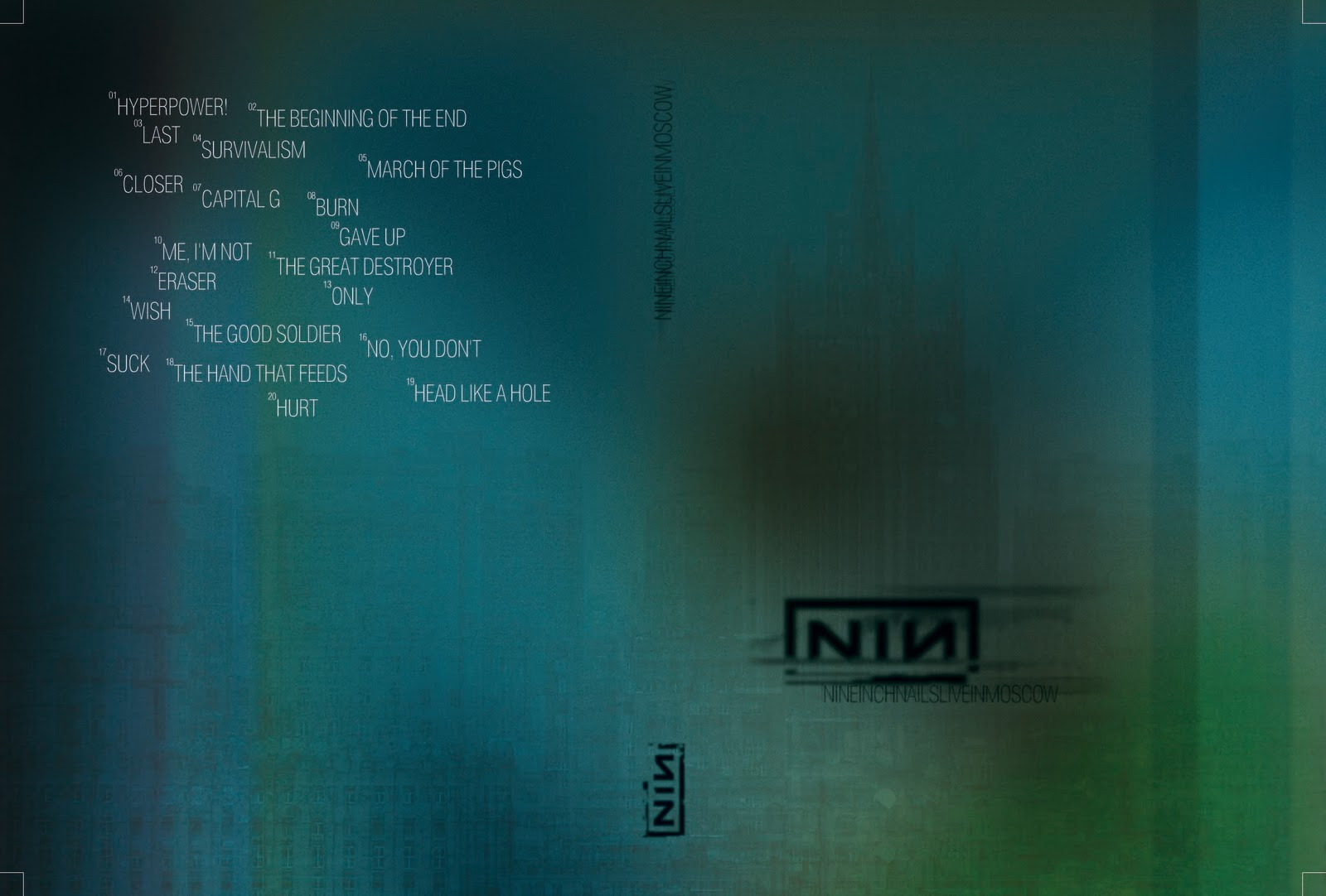 DARK CIRCLE ROOM: Nine Inch Nails - Moscow, Russia - 01.08.2007 (DL DVD)