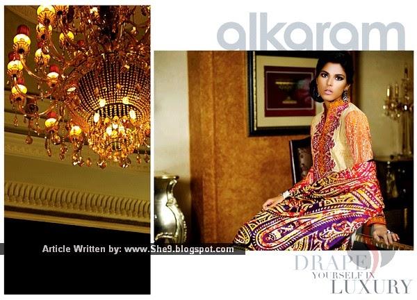 Alkaram Silk Collection for Spring 2015