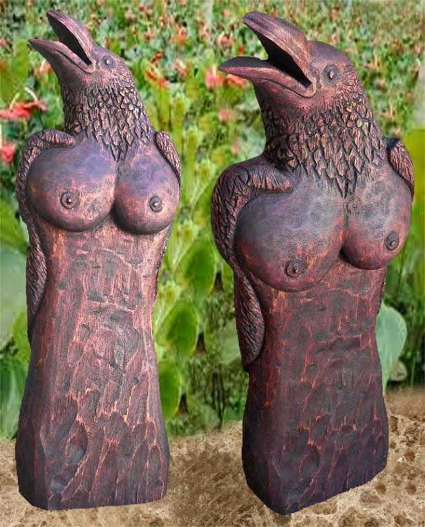 Escultura - Mulher Corvo - Mulher pássaro