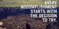 Quote:Every accomplishment starts with the decision to try