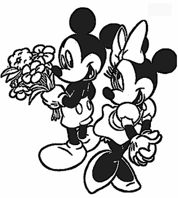 Disney Valentines Coloring Pages