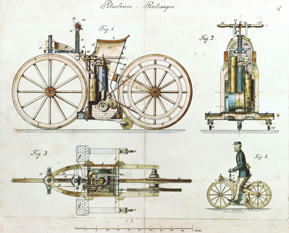 invention of the combustion engine Background field of the invention the present invention relates to an internal combustion engine with a multi-link piston-crank mechanism related art.