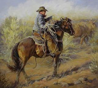 Vaqueros en Paisajes Pintura Oleo