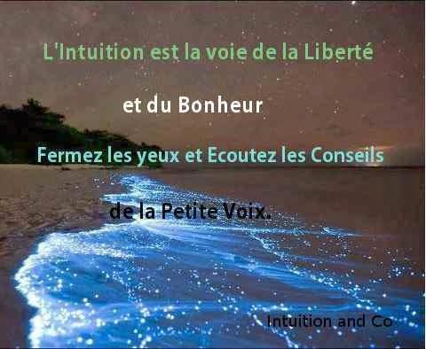 L'Intuition est le médium permettant de communiquer avec l'Intelligence Infinie.