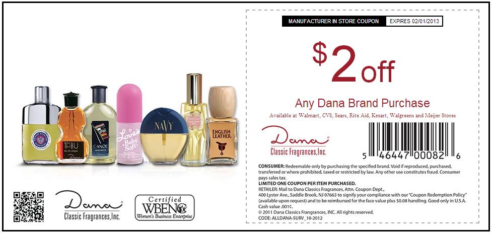 Printable perfume coupons