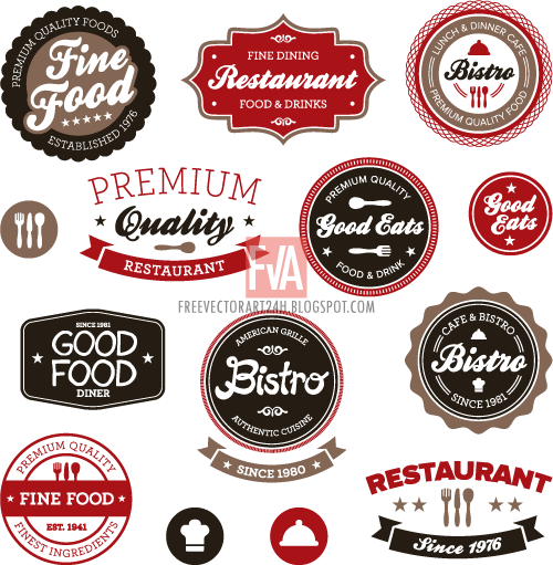 Vintage-food-label-vector-graphics