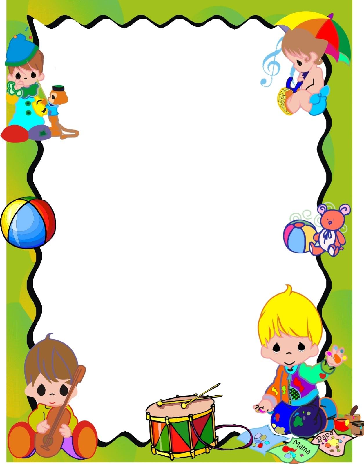 Bordes de caratulas para niños - Imagui
