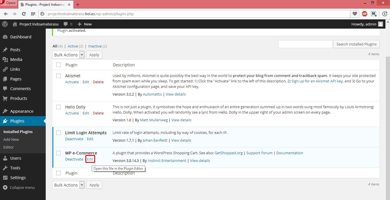 Menggunakan Pugin Wp eCommerce Unruk Membuat Toko Online di Wordpres 4