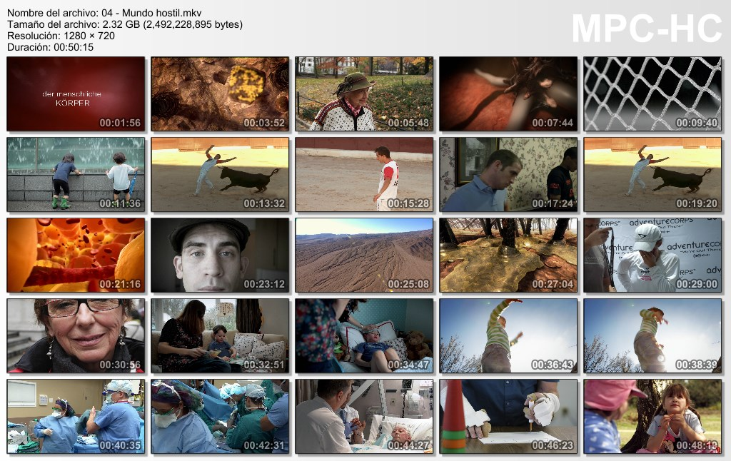 9GB|BBC|Dentro del Cuerpo Humano|HD 720|Dual|MEGA
