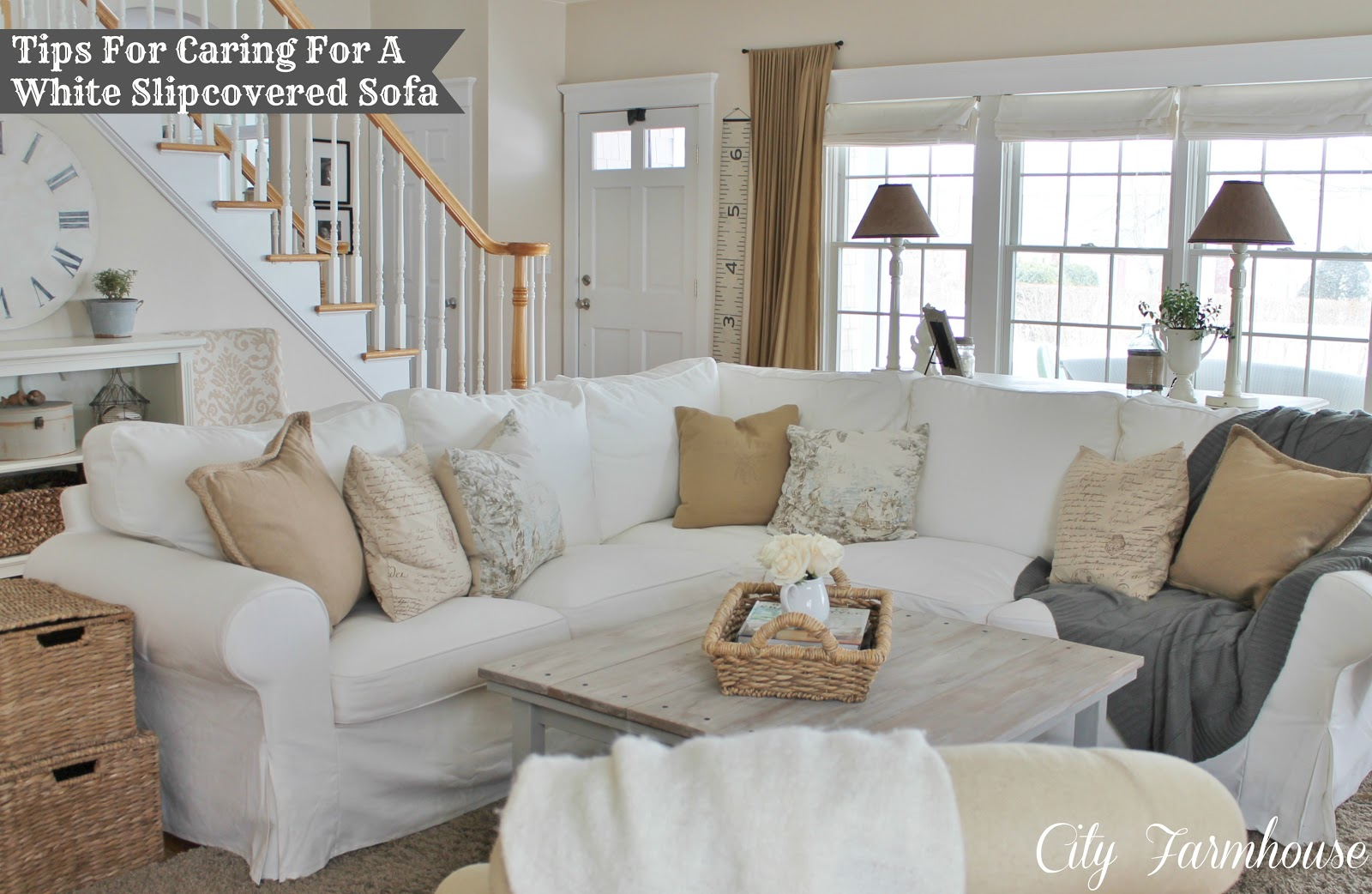Real Life With A White Slipcover Amp Keeping It Pretty City Farmhouse