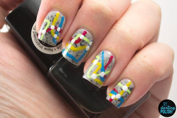 hey darling polish nail art