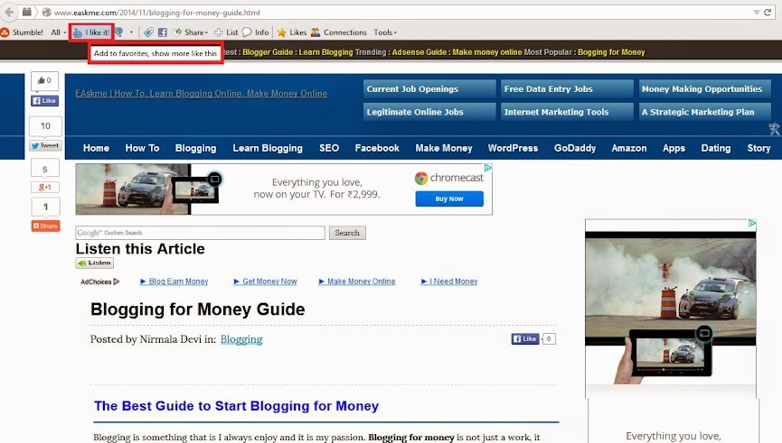 How to Add Website to Stumbleupon : eAskme