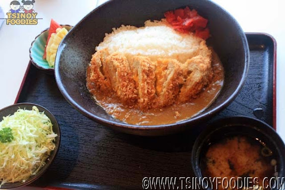 menchi katsu curry with cheese